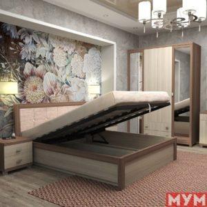 Кровать Жасмин с подъемником ортопед осн