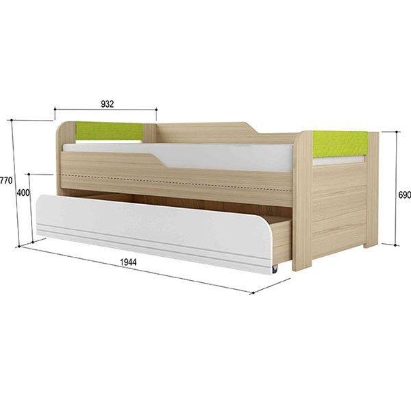 """Кровать """"Стиль"""" 2-уровневая Лайм"""