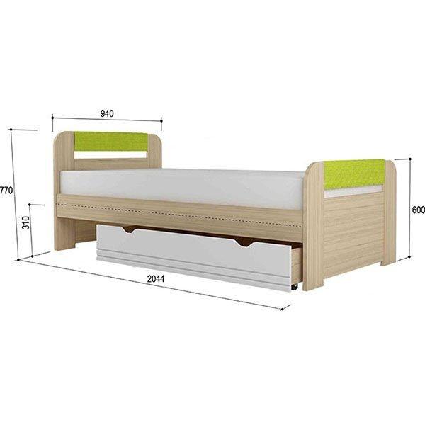 """Кровать """"Стиль"""" Лайм с основанием"""