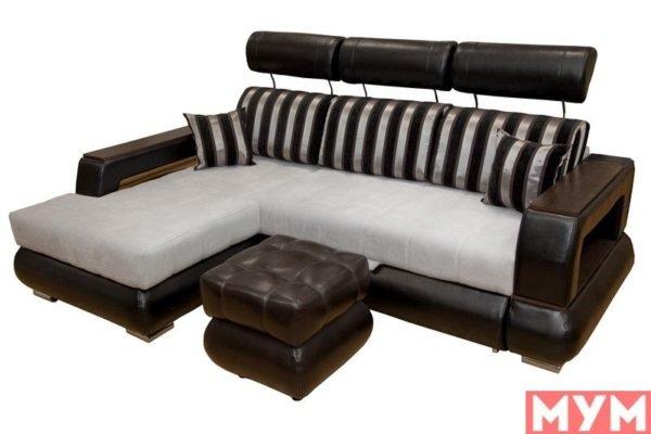 Угловой диван «Неаполь» с подголовниками