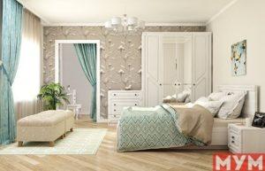 Спальня АзалияБодега Белый