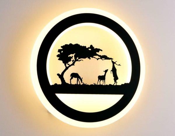Светодиодный светильник Selena 6064-32W Black (10)