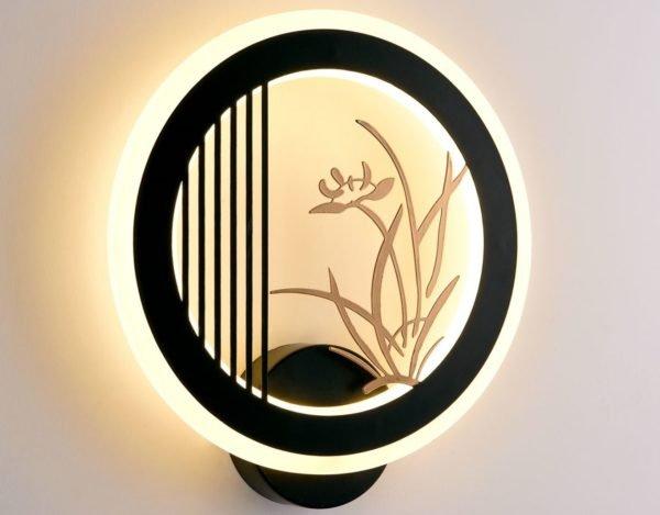 Светодиодный светильник Selena 6115-28W Black (10)