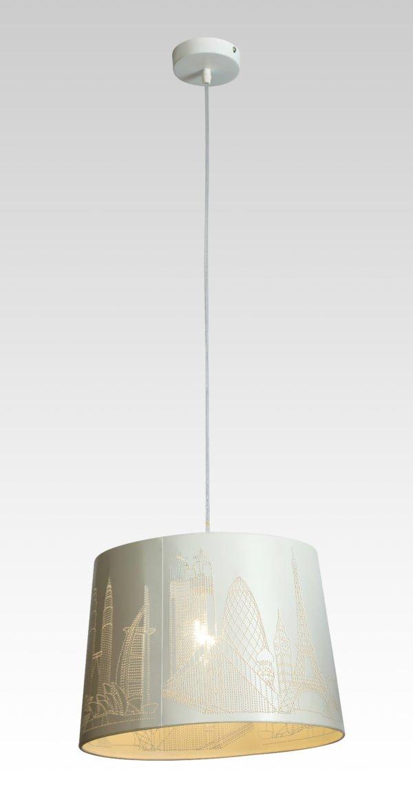 Лампа подвесная 8028-1 WT  (6)