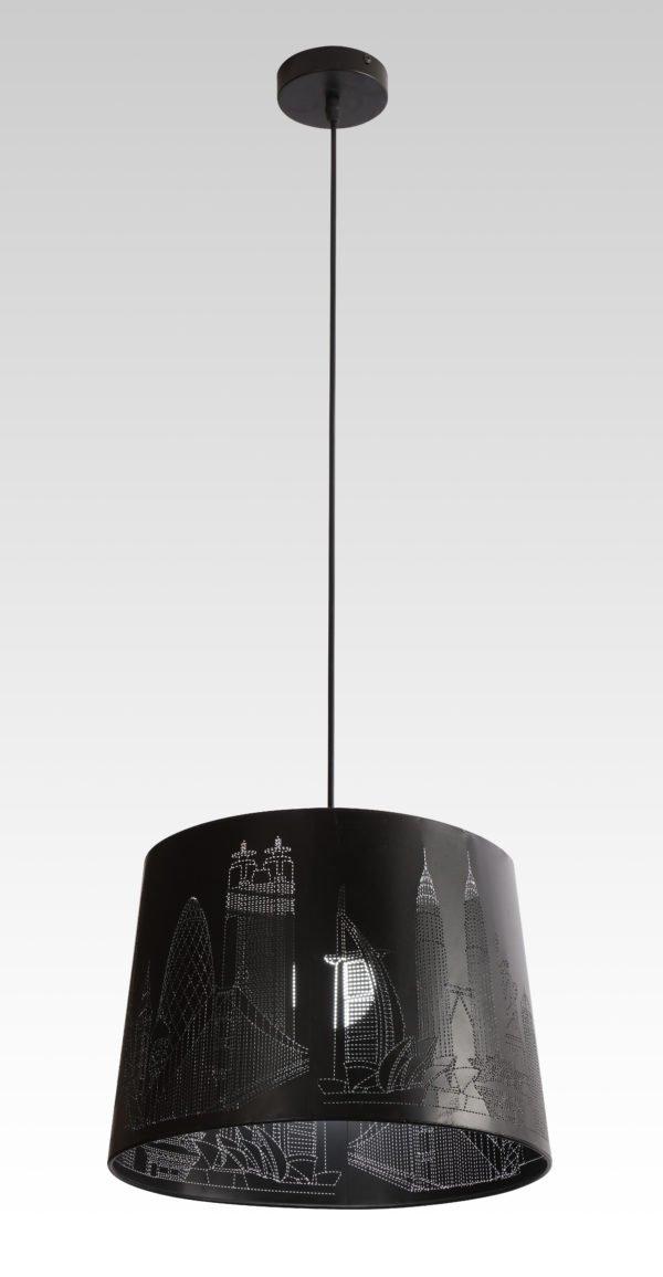 Лампа подвесная 8028-1 BK  (6)